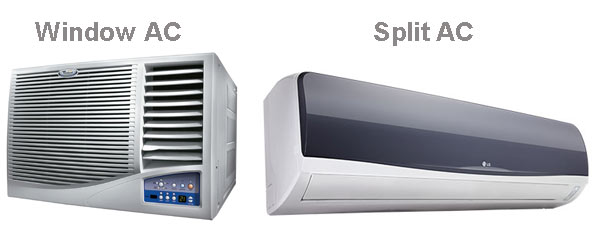 Difference between Split or window AC